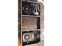 2x Numark NDX 500 + Behringer DJX 900 in flightcase