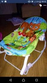 Baby bounce chair and vibration