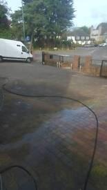 Driveway patios deep cleaned