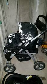 Buggy carry cot and car seat