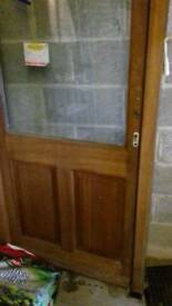 New mahogany door with frame and handles £125