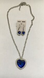 Blue stone jewellery set