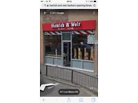 Barber required for Hamish & weir Hamilton experience required for busy shop