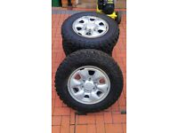 Toyota Hilux Steel Wheels with Mud Terrain Tyres