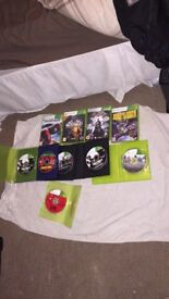 Xbox 360 500gb with 10 games