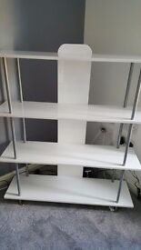 White gloss wall unit great condition