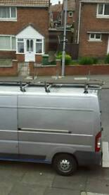 Peugeot boxer citroen relay roof bars and ladder