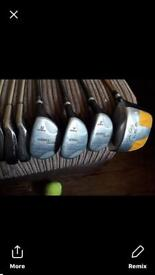 Golden bear complete set of golf clubs plus 1 ping club as well