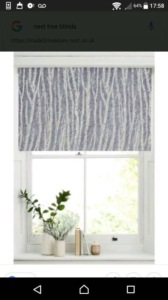 Grey & white roller blind