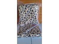 Garden chair seat pads x 4