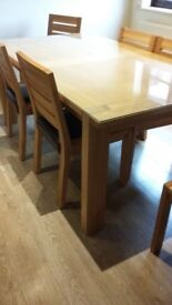 Dining table and 6 chairs M&S Sonoma range.