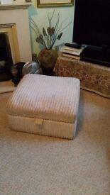 Ottoman with storage space
