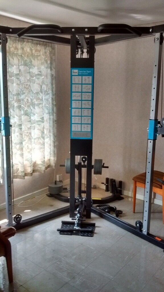 Men S Health Cable Cross Over Home Multi Gym Very Good