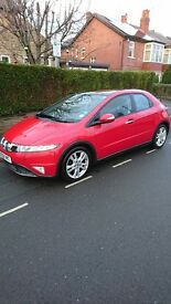 Honda Civic 1.8VTEC ES, low miles, great condition, with parking sensors, panoramic roof , bluetooth