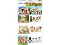 Job lots of sylvanian families wanted