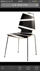 Ikea black/white Vilmar Chair unused
