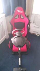 Open Wheeler gaming chair & Thrustmaster wheel