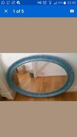 "Large 42"" Oval Mirror, coffee table, Handmade Wooden Planters & other furniture for sale"