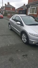 Honda Civic for sale with alloy wheels and panoramic roof