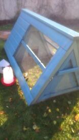 Wooden Chicken Ark 70 x 36 x 37 inches Access doors at both ends