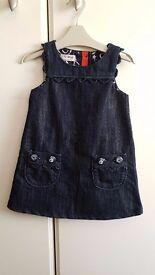 Baby Girl Denim Dress (9 to 12 months) - Brand: Next - Blue – £4