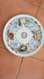 Wedgewood collectors Plate Seasons Mammals 2005