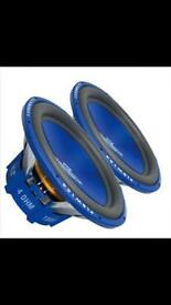 "15"" Subwoofer x 2 with Amp and power cap"