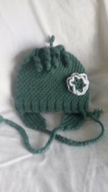 Brand new , hand made knitted hat for girls