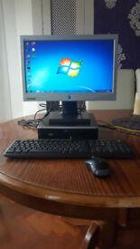 HP Compaq 8000 Elite USDT PC Computer Keyboard Mouse 17inch Monitor Windows 7, 4GB RAM, 160Gb SSD