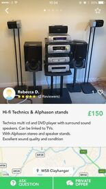 Hi-fi Technics and Alphason Stands
