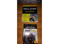 NIKON D3200 for Dummies, camera guide book.