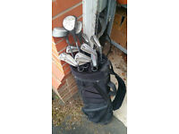 Ben Sayers golf clubs with bag and trolley