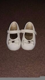 Mothercare cream shoes