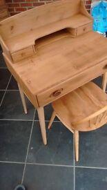 RARE VINTAGE ERCOL WRITING DESK/DRESSING TABLE