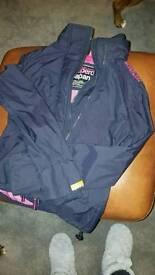 Women superdry coat size (m)