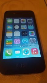 APPLE IPHONE 4 BLACK AND 16GB UNLOCK TO ALL NETWORK