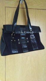 Handbag. Charcoal and Black, M&S. Lightweight, good size