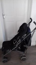 Quatro black stroller