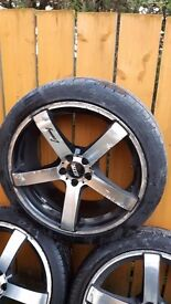 18 inch Alloy wheels with tyres