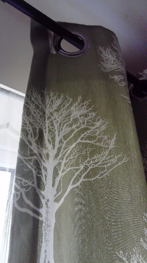 Eyelet Green curtain 60 inches x 90 inches