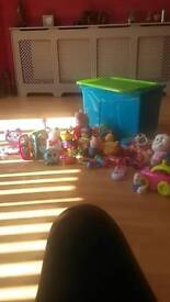 Selection of toys n box (baby/toddler)