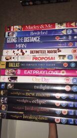 Romance themed DVDs