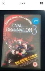 Final Destination 3 Dvd 2 Disc Mary Elizabeth Winstead Thriller Horror