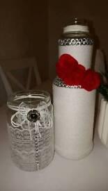 Handmade ornamental jars