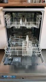 zanussi silver gray dishwasher