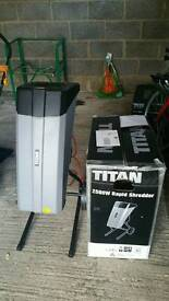 Titan Garden Shredder excellent condition used once