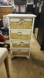 Used rattan drawers