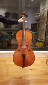 Eastman Cello (full-size). 2 Bows + 2 Cases also avail. (can sell separately). Ideal for students