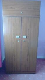 double wardrobe and 2 sets draws