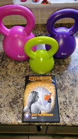 Buy Kettlebell DVD, get three kettlebells free !!!! Great Starter Set **